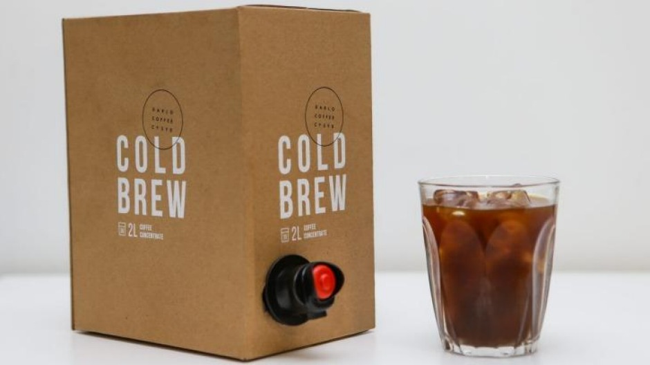 Coffee convenience ... Cold brew in a cask.