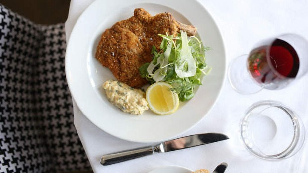 Veal cotoletta with sauce gribiche.