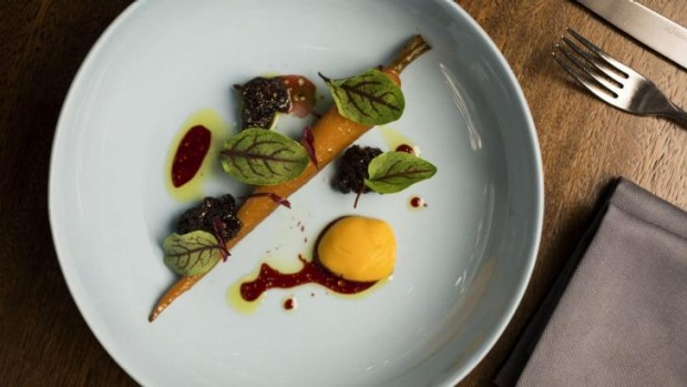 The carrot, oxtail and hibiscus.
