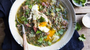 Karen Martini's smoked ham hock and lentil soup.