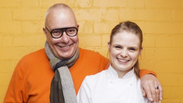 Shaper of chefs: Damien Pignolet with pastry chef Lauren Eldridge.