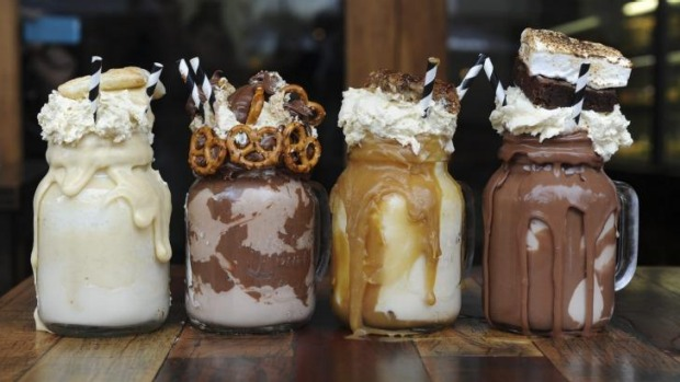 "An Instagram insta-hit: ""Freakshakes"" from Canberra cafe Patissez have inspired copycats in Sydney, Melbourne and Britain."