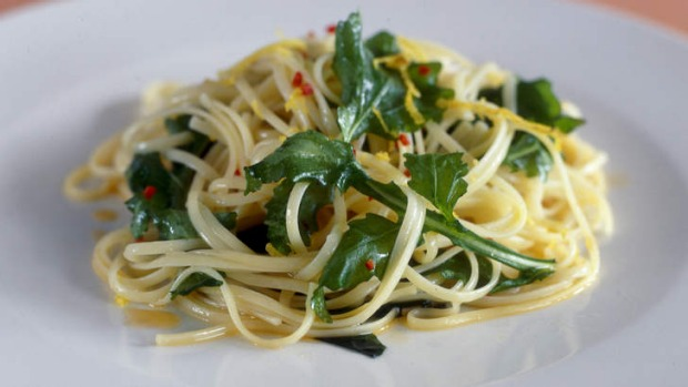 Linguine with lemon and seasonal produce makes a simple midweek dinner.