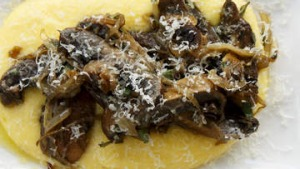 Mushrooms and polenta.