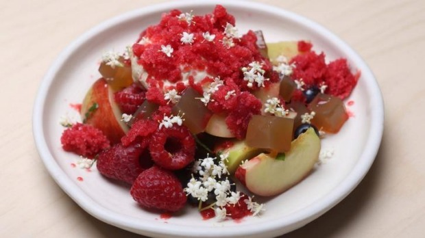 Fruit salad by Sean McConnell of Monster restaurant.