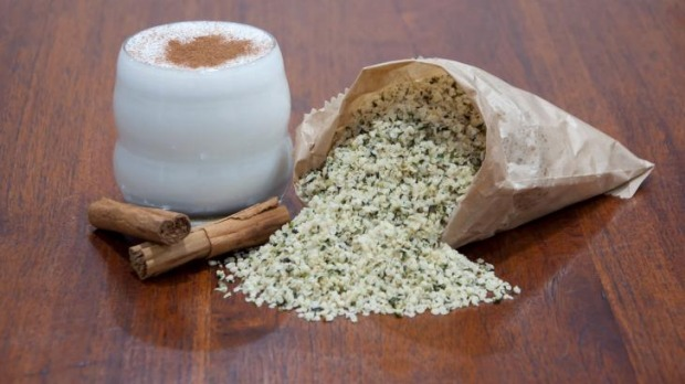 Hemp milk is legal for external use only in Australia, and is made by blending hulled hemp seeds with water.