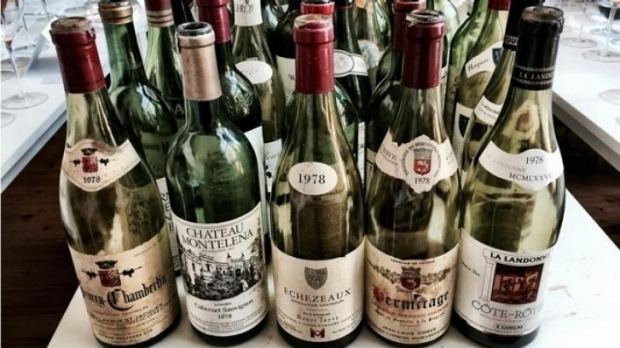 A selection of the 100 great wines blind-tested in the 1970s test.