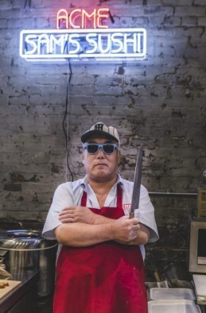Sushi master Sam Katakura from Acme Feed & Seed in Nashville.
