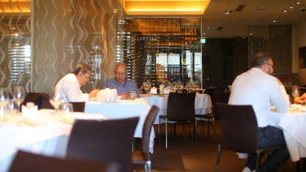 Contemporary and spacious: Inside Gambaro Seafood Restaurant.