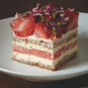 The famous strawberry watermelon cake.