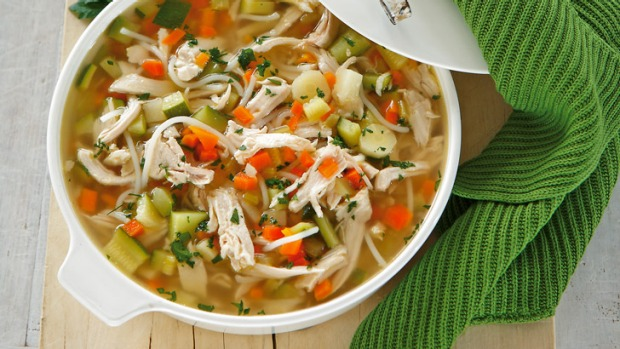 hearty chicken noodle soup recipe  good food