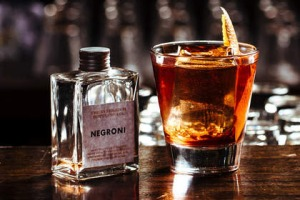 Bottled negroni at Heartbreaker.