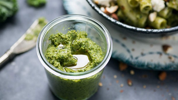 Kale, olives and artichoke take a tasty dip in tapenade.