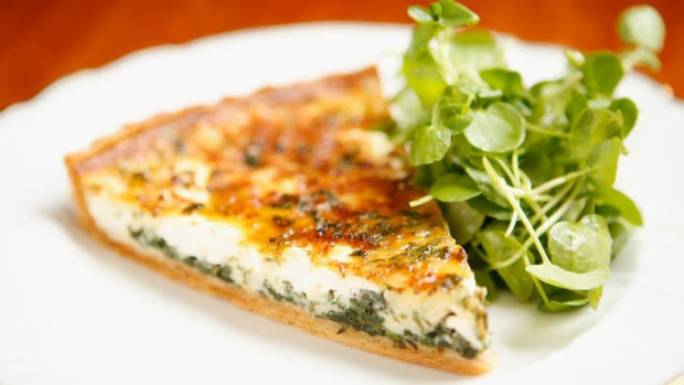Picture-perfect: Goat's cheese tart.