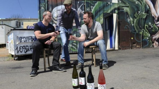 Luke McGaghey, Bill Crowe and Aaron Harper are behind Three Lads wine.