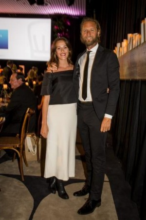 Kate Fowler and Justin Hemmes at the SMH Good Food Guide Awards in September.