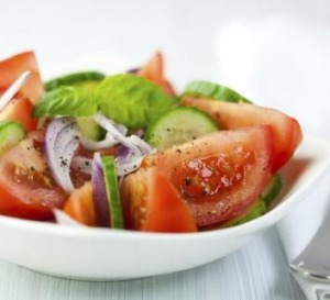 Try the fresh seasonal flavours of a Lebanese cucumber and tomato salad.