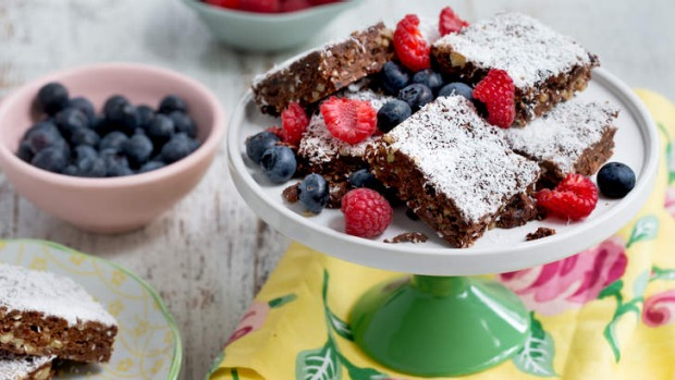 Stick them in the fridge to set ... Lola Berry's raw chocolate brownies.