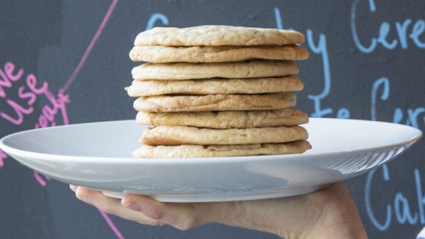 A stack of Christina Tosi's whisky maple cookies for the Singleton Whisky & Sugar Bar.