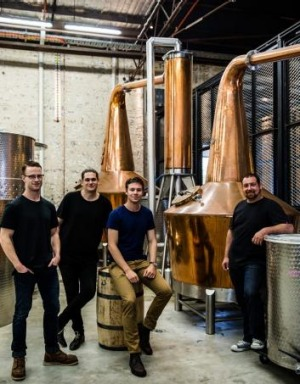 Joe Dinsmoor, Dave Withers, Will Edwards and Nigel Weisbaum from the Archie Rose distillery.