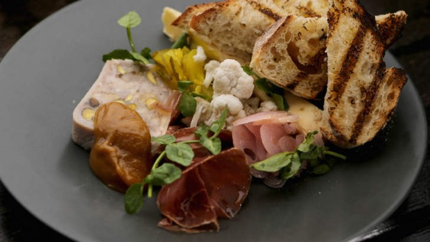Pick at an artfully plated ploughman's lunch.