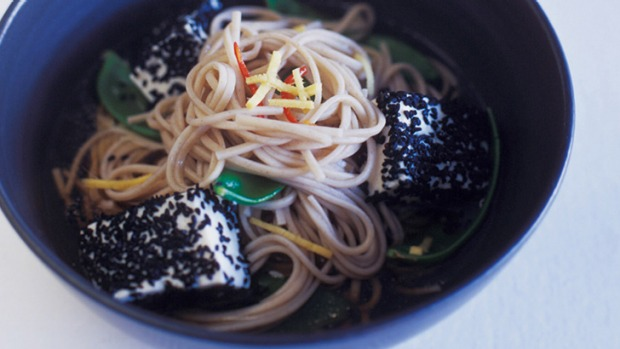 Soba noodles are a great base in this healthy vegetarian dinner.