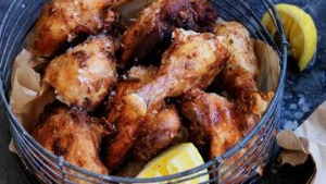 Spice marinated fried chicken.