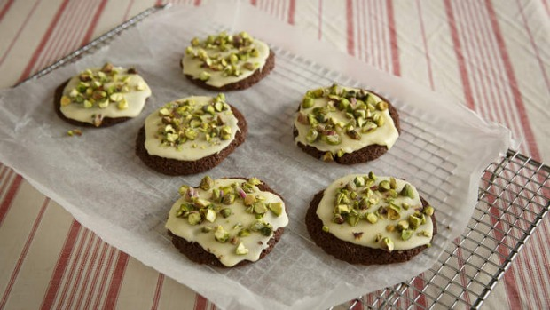 Share the love: Malted milk cookies with pistachios.