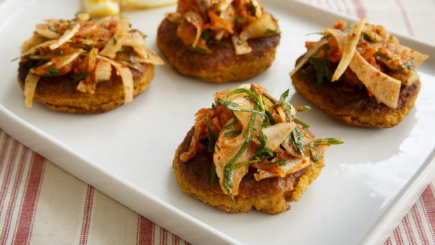 Vegetarian burgers can give meat burgers a run for their money, with enough trimmings such as kimchi and spice.