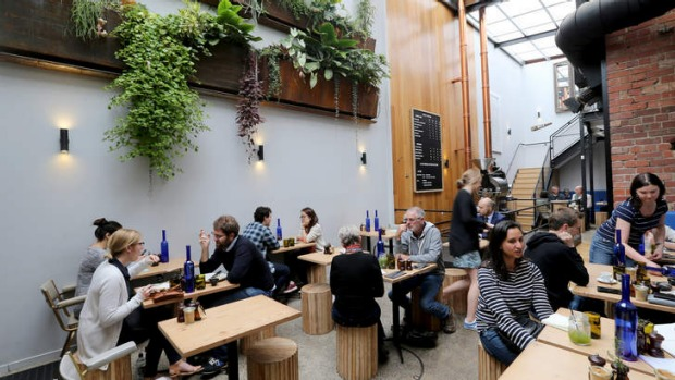 Covert cafe: the light-filled brew bar and eatery.