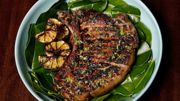 Beast of a thing: the pork chop is best shared between two.
