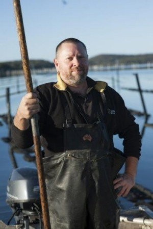 Shane Buckley of Wapengo Rocks oysters.