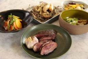 A selection of dishes from the Garden Pavilions Kitchen.