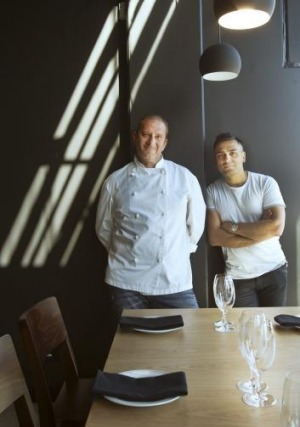 Executive chef Harry Lilai and owner Johnny Di Francesco at 400 Gradi in Essendon.