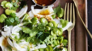 Broad bean and fennel salad.