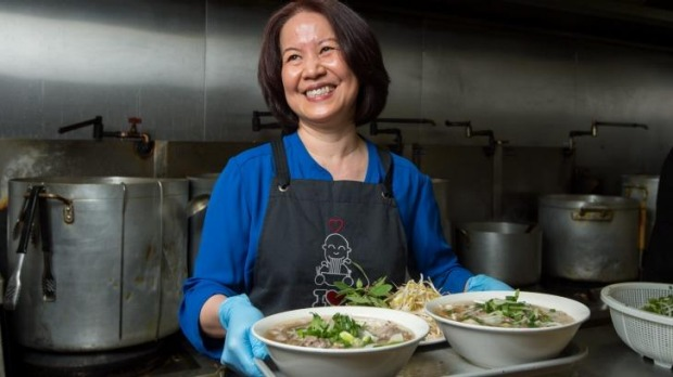Hien Vo makes diners happy at her I Love Pho restuarant in Richmond.