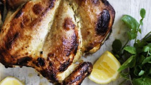 Yoghurt roast chicken.