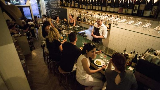 All lined up: William Street Wine Bar is equal parts food and wine.