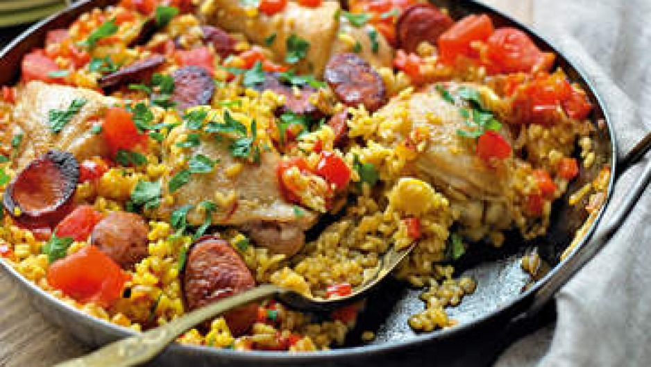 Chicken paella is a crowd-pleaser.