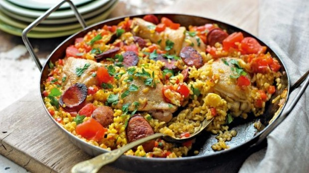 Paella is a crowd-pleaser.