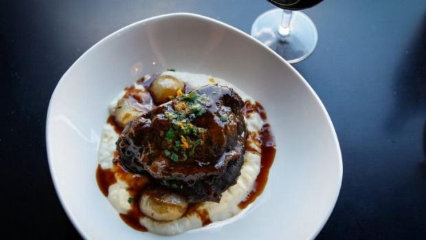 Chianti braised beef cheeks at Italian and Sons.