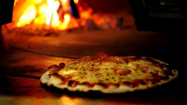 Pizza Gusto's wood-fired bliss.