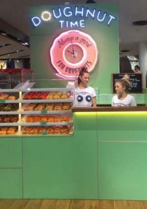 Doughnut Time inside the Topshop store in South Yarra.