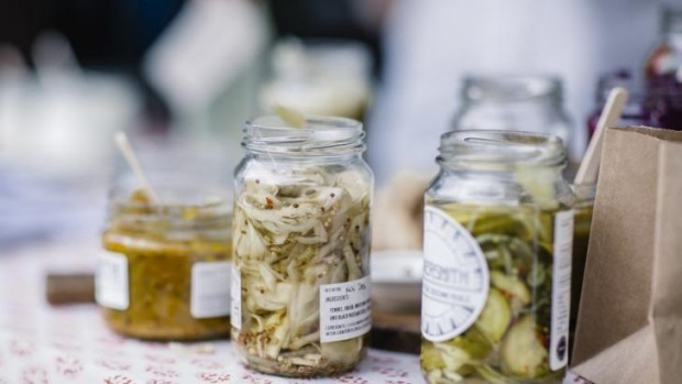 Cornersmith pickles at Sydney Living Museums' Christmas Fare market.