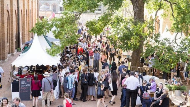 Sydney Living Museum's Christmas Fare market at the Hyde Park Barracks.