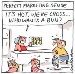 Hot, cross words over early buns. Illustration: Matt Golding