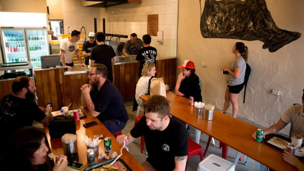 Tasty Texan: Diners get it while the going's good.
