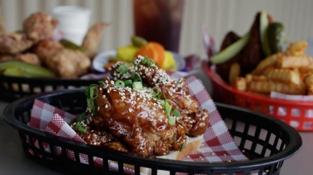 Sweet-and-sour sticky chicken ribs.