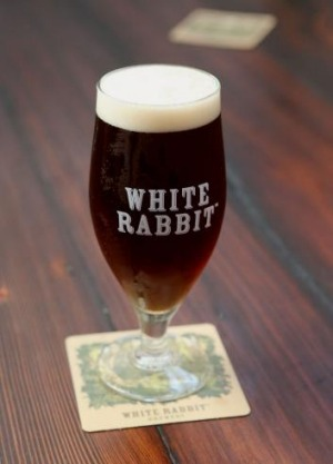 The Red Ale at White Rabbit Barrel Hall is a tart, blushing cherry number.