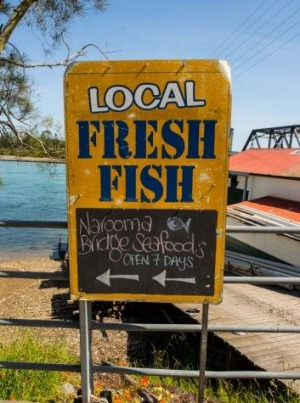 Seafood outlets dot the coast.